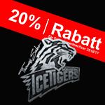 20% Rabatt für die Icetigers-Dauerkartenbesitzer Saison 2016/17 Ristorante Pizzeria il mondo Nürnberg
